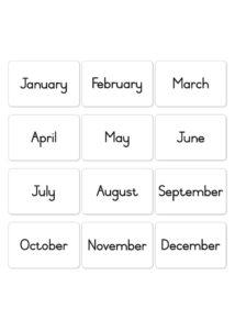 Words - Months